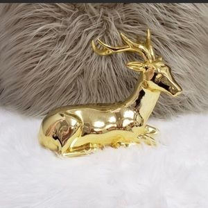 Gold shiny reindeer.